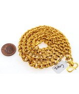 AUTHENTIC 22K GOLD SOLID EXCLUSIVE MENS ROLO INTERLOCKING LINKS CHAIN - £2,157.08 GBP
