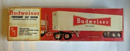 Vintage AMT Budweiser Fruehauf '40 foot Semi Trailer #T552 1/25 Scale mo... - $97.99