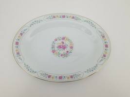 "Liling Fine China Platter Serving Dish 14.25"" x 10 3/8"" Yung Shen Roses ... - $19.34"