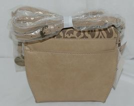 Simply Noelle Brand Tan Taupe Color Floral Leaf Pattern Womens Purse image 3