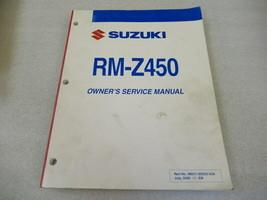 Suzuki 2007 RM-Z450 Owner's Service Manual P/N 99011-35G52-03A - $30.64