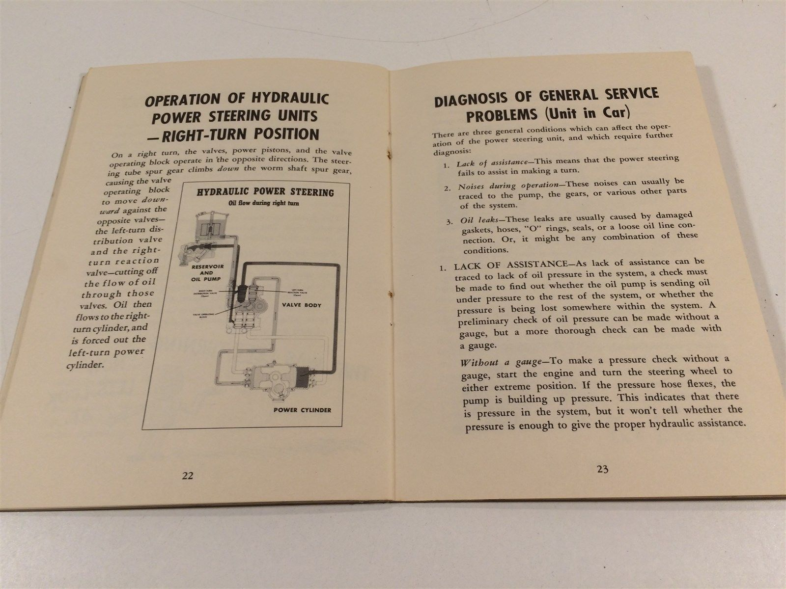 1952 Chrysler Corporation Service Reference Book V5 No2 Hydraulic Power Steering