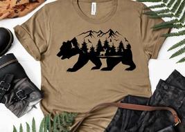Mountain Bear Shirt Bear T Shirt Camping T Shirt Wilderness Travel Tee Wanderlus - $16.40+