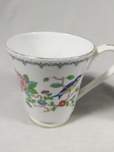 Aynsley Pembroke Tea Cups Fine English Bone China Birds Floral Set of 2 Mugs image 2