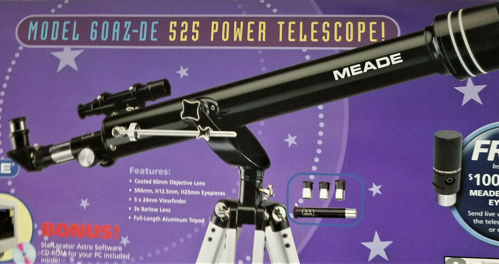 Meade Telescope: 6 listings