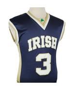 Notre Dame Fighting Irish Basketball Jersey #3 Blue Gold Adult Medium N... - $14.99