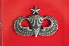US ARMY UNIFORM FULL SIZE SENIOR PARACHUTIST ANTIQUE SILVER QUALIFICATIO... - $12.86
