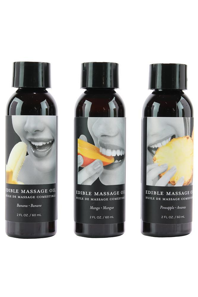 Earthly Body Tropical Massage Oil Gift Set (3- 2oz)