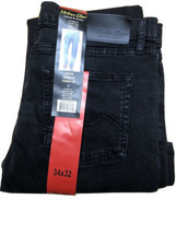 New Urban Star Men's Relaxed Fit Straight Leg Jeans  Black 34x32 - $31.67