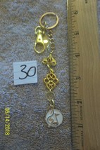 #purse jewelry gold color music note keychain backpack filigree dangle c... - $3.49