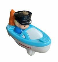 Fisher Price Little People Wheelies Racer Boat Captain eddy boy car - $7.91