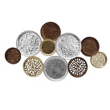 Clusters of Circles Metal Wall Decor with Aesthetic Details Multicolor -... - $162.99
