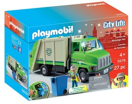 PLAYMOBIL® Green Recycling Truck - $34.38
