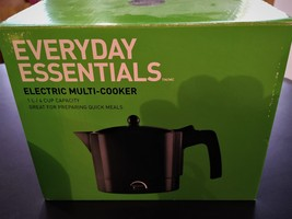 Black Electric multi Cooker 1L/4 cup Capacity - $12.00