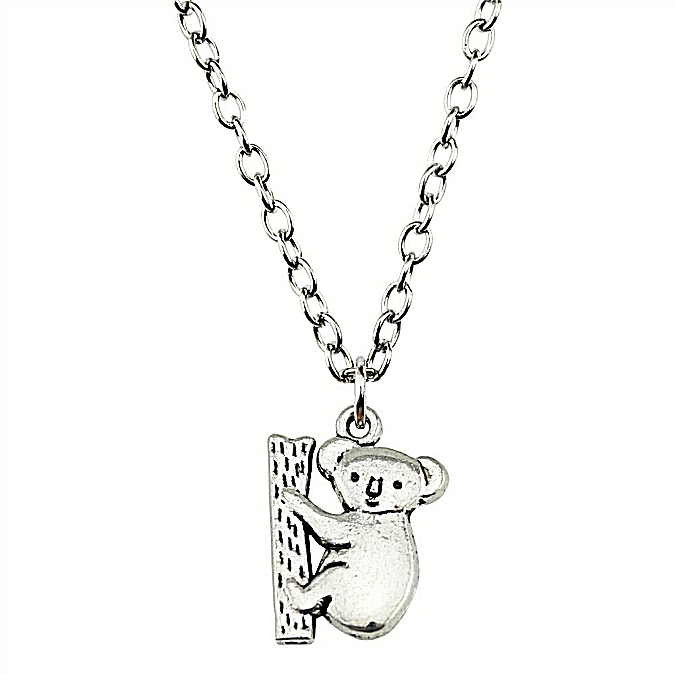 Primary image for Koala Bear Pendant Necklace Antique Silver NEW