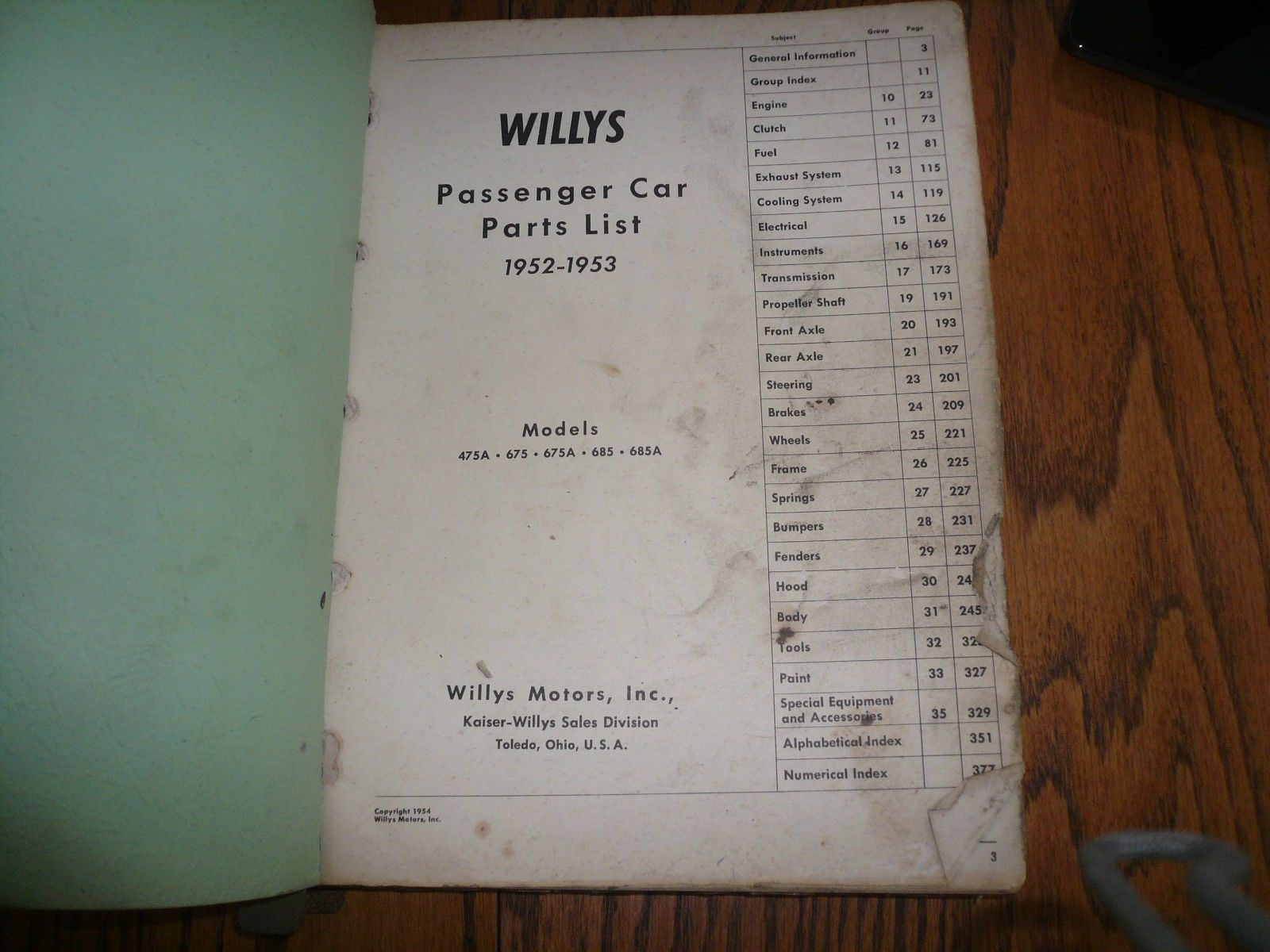 685 Willys Wiring Diagram Services Harness 1952 1953 Passenger Car Parts List And 50 Similar Items Rh Bonanza Com Ford Engine