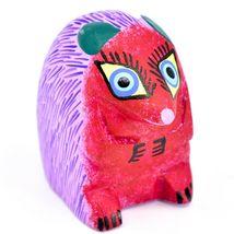Handmade Alebrijes Oaxacan Copal Wood Carved Painted Folk Art Hedgehog Figurine image 4