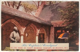 1950's Postcard Captain's Courtyard Pabst Brewing Company Milwaukee, WI ... - $6.92