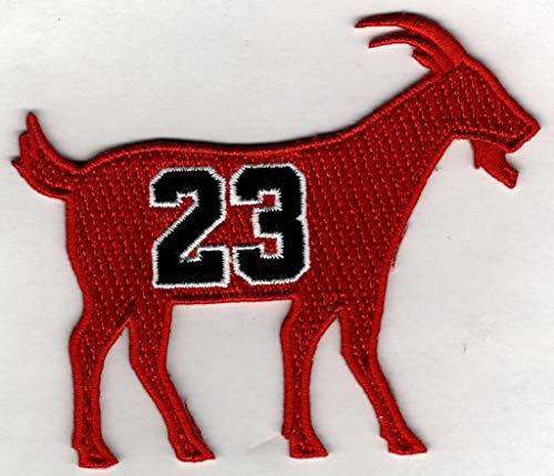 Primary image for MICHAEL JORDAN G.O.A.T GOAT No. 23 Patch - Jersey Number Basketball Sew or Iron-