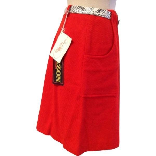 Vintage Sweet Swinger Blazon Red Ladies Golf Skirt RL-25