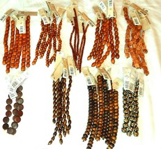 NEW 7 & 8 in STRANDS WOOD BEADS LIGHT & DARK BROWN 8 MM,15 MM, 20 MM DIY... - $3.99