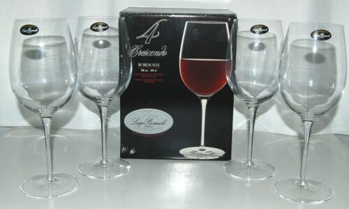 Luigi Bormioli 0962701 Crescendo Bordeaux 20 ounce Wine Glasses Set of 4