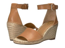 Vince Camuto Leera Ankle Strap Espadrille Wedge Sandals, Tan Multiple Sizes  - $79.95