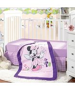 Minnie Mouse Crib Bedding Set for Baby Girls Bed Set Pink Purple   3 Pie... - $94.00