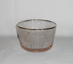 Paden City SPRING ORCHARD Etched Ice Bucket or Wine Cooler Silver Trim - $28.00