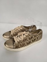 Michael Kors MK City Womens Sneakers Size 9M Bronze Brown Lace Up Casual... - $43.88