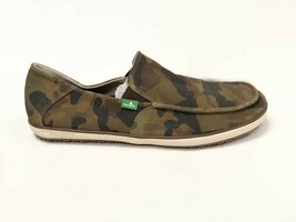 Sanuk Mens Casa Suede Camo Casual Boat Canvas Shoes Slip On Loafer SMF10658 New - $39.99