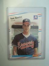 1988 Fleer Rookie Card Tom Glavine Atlanta Braves #539 NRMT-MT - $6.23