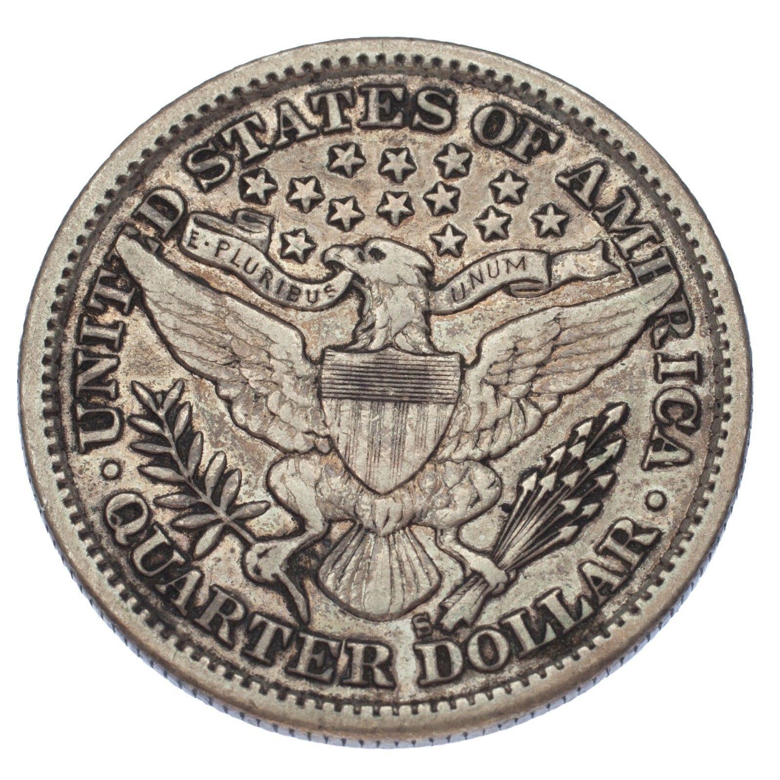 1897-S 25C Barber Quarter (Very Fine, VF Condition) image 4