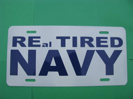 License Plate, NEW-REal TIRED-NAVY - $9.80