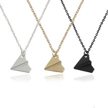 Trendy Paper Airplane Necklace Snatch One Direction Pendant Necklaces Fo... - $5.24