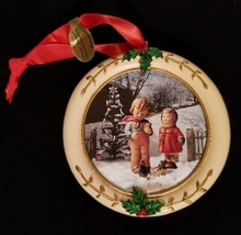 "Hummel Christmas Danbury Mint Circle Shaped Ornament ""Birdwatcher"" - $8.15"