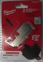 "Milwaukee 48-25-5543 2-1/4"" Switchblade 3 Blades Only Selfeed Bit Blades - $9.90"