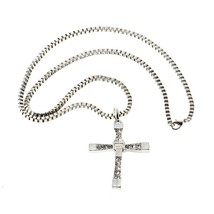 Necklace Fast and Furious 8 Pendant + Chain Cross Wine Diesel - £6.85 GBP