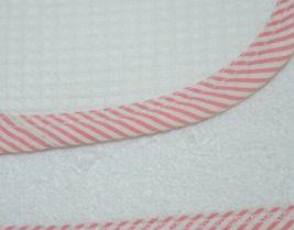 EllieO Seersucker Bib And Burp Cloth Set White With Pink Striped Trim image 5