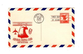 POSTCARD-FDC 6 CENT AIR MAIL POSTCARD BK12 - $1.94