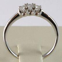 Anillo Oro Blanco 750 18K, Trilogy 3 Diamantes Quilates Total 0.16 , Vástago image 4