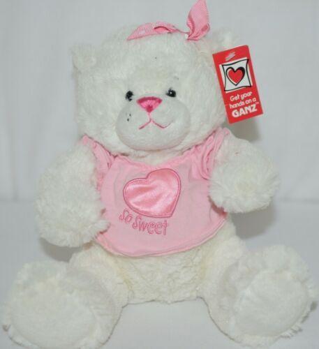 Ganz HV8974 Sweet Tweets Pink White Small Bear Girls Three Plus