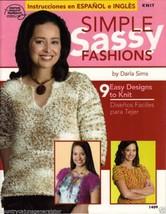 ASN Simple Sassy Fashions #1409 9 Easy Knitting Designs English/Spanish ... - $14.67