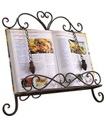 Antique Metal ♥Cookbook Stand Recipe Book Stand for Kitchen Easel Weight... - $33.62