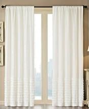 "Madison Park Bessie Cotton 50"" x 63"" Horizontal Ruffle one Window Panel White - $25.20"