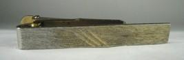 Tie Bar Clasp Sterling Silver Signed Vintage Stamped Goldtone Wash  - $32.71