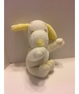 """Snoopy Plush Yellow White 9"""" Tall Squeaky Ear Peanuts Baby - $8.59"""