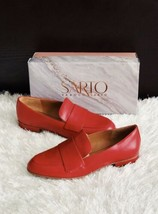 ✨New Sarto By Franco Sarto Kip Leather Loafers Cherry Red Womens Size 7.5M $120 - $60.31