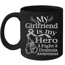 Dyslexia 11oz coffee mug Cure Silver ribbon support for my Girlfriend - $15.95