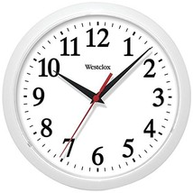 Analog Wall Clock, Basic White 10 Inch Living Room Bedroom Wall Mounted ... - £16.65 GBP